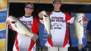Bassmaster Fishing Chart Pickens High Lead Day 2 Bassmaster High School National