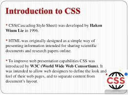 cascade style sheet cascading style sheets css