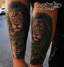 лев и львица тату на предплечье у парня добавлено анастасия басова