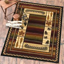 rustic cabin area rugs evening river rug 8 x rustic cabin lodge area rugs