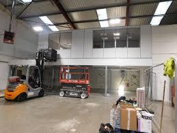 mezzanine office space. premier storage creates contemporary office space on mezzanine floor d