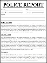 report formats in word police report template