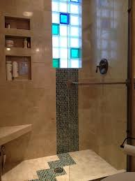 bathroom remodel custom marble tile colored glass block shower window toledo transitional