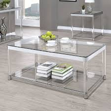 coaster furniture mirrored coffee table collection coaster glass top coffee table in chrome kitchen
