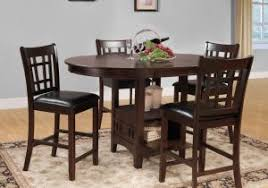dining room table set luxury homelegance junipero 5 piece counter height dining table set