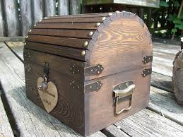 Treasure Chest Decorations Wedding Card Box Stained Rustic Wood Fairytale Treasure Chest