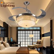 luxury ceiling fans. Luxury K9 Crystal Ceiling Fan Lights 4 Invisible Acrylic Blades Top Grade Modern Fans 42 Inches 36W Led Smd Inside-in From O