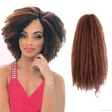 Afro Braid Hair Style 2017 afro kinky twist marley braid hair 32strands kanekalon hair 5939 by wearticles.com