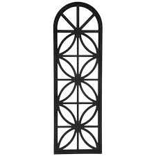 black window arch wood wall decor