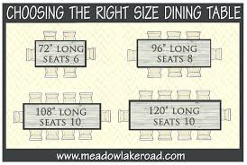 8 ft table seats choosing the right size dining table meadow lake road 8ft round table 8 ft table seats