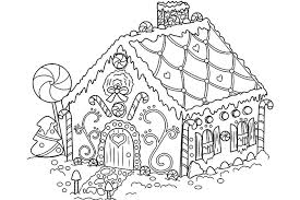 Collection Of Gingerbread House Coloring Pages To Print Free