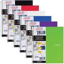 Five Star Spiral Notebooks 1 Subject Graph Ruled Paper 100 Sheets