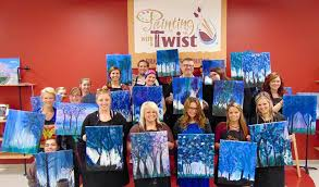 arts writer nervously goes from writing about the arts to making art at painting with a twist grand rapids image courtesy painting with a twist
