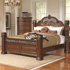 Brown Wood California King Size Bed - Steal-A-Sofa Furniture Outlet ...