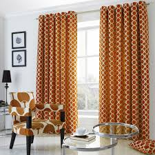 Orange Curtains For Living Room Oh Orange Chenille Jacquard Eyelet Curtains Ready Made Curtains