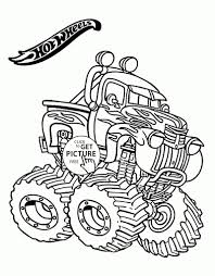 Hot Wheels Monster Truck Coloring Page For Kids Transportation With