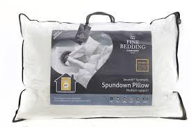 fine bedding spundown pillow