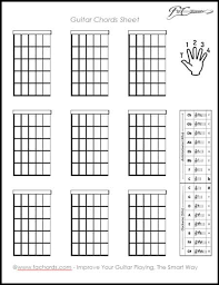 Blank Guitar Chord Sheet