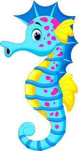 cute seahorse clipart. Wonderful Cute Vector  Illustration Of Cute Seahorse Cartoon Inside Cute Seahorse Clipart R