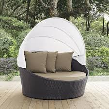 outdoor patio daybed. Ryele Canopy Outdoor Patio Daybed With Cushions