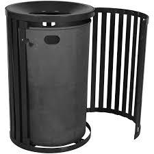 streetscape gated trash receptacle