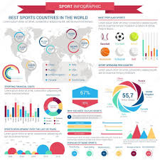 Sports Infographic Template Sports Infographic Template With Charts And Map Stock Vector