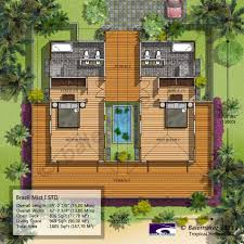 Balemaker Tropical House Floor Plans Modeling Design Bali Resort Tropical House Plans With Photos