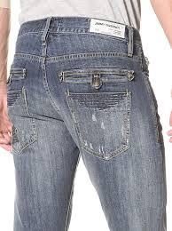 Jimmy Taverniti Mens Skinny Jeans With Stitch Detail