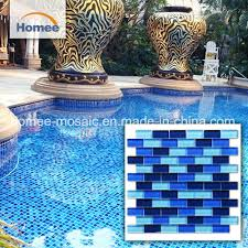 foshan suppliers unique glass mosaic swimming pool tiles