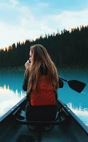 Girl Boating Alone Hd Mobile Wallpaper ...
