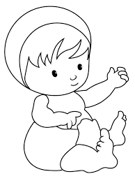 Small Picture Free Printable Baby Coloring Pages For Kids Throughout Page esonme