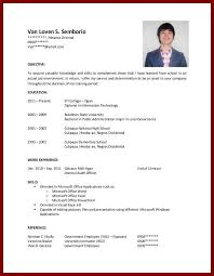 Example Of Student Resume For College Application Examples Of Resumes