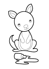 Small Picture Baby Kangaroo Coloring Page NetArt