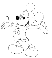 Mickey Mouse Coloring Pages Free Printable Claytons Room