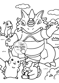 Pokemon Coloring Pages For Kids Printable Printable Coloring Page