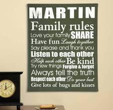 family canvas wall art family rules canvas wall art with solid wood frame family rules 6 pc canvas wall art