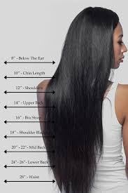 Straight Hair Length Chart Natural Straight In 2019 Natural Hair Styles Long Hair