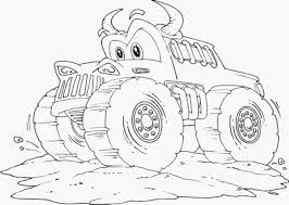 2019 Thanksgiving Monster Truck Coloring Pages Printable Coloring