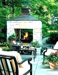 outdoor fireplace plans portable backyard fire chimney build building
