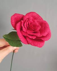 Red Paper Flower Red Rose