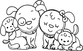 Small Picture Animal Dog Family Family Coloring Page Wecoloringpage