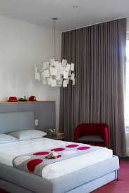 modern bedroom red. Silken Drapes Add Gray To The Creative Modern Bedroom [Photography: Sam Noonan] Red N