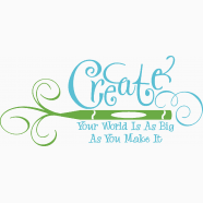 create your world is as big as you make it on craft room wall decorations with craft room ideas scrapbooking wall decals simple stencils