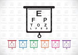 Eye Chart Test Icon Stock Vector Image