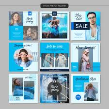 Blue Fashion Social Media Post Template Vector Premium Download