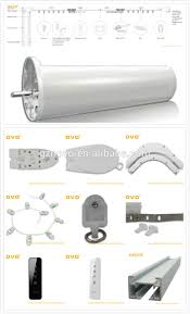 novo automatic shower curtain rod double track with remote control curtain motor for motorized curtain system