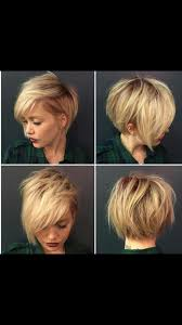 Short With Side Bangs Textured Hair Kapsels Halflange Kapsels