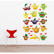 happy vegetables vinyl wall sticker aa1018