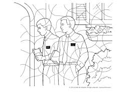 Small Picture Missionaries Coloring Page
