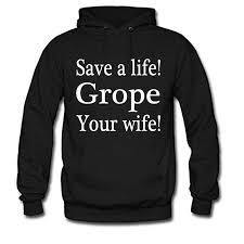 Wife groped in hood
